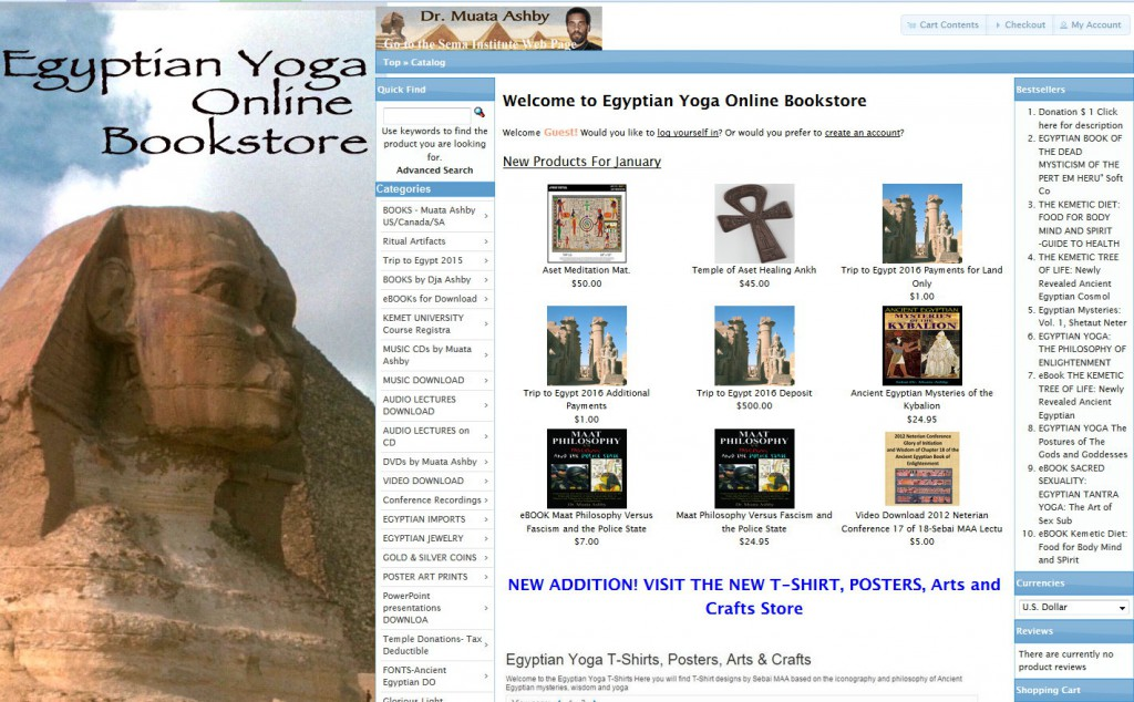 Bookstore Egyptian Yoga
